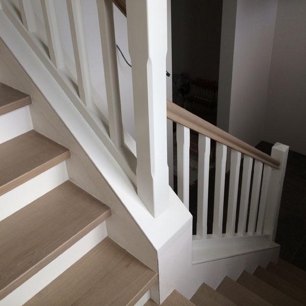 betonnen trap bekleden met hout - johan baeten